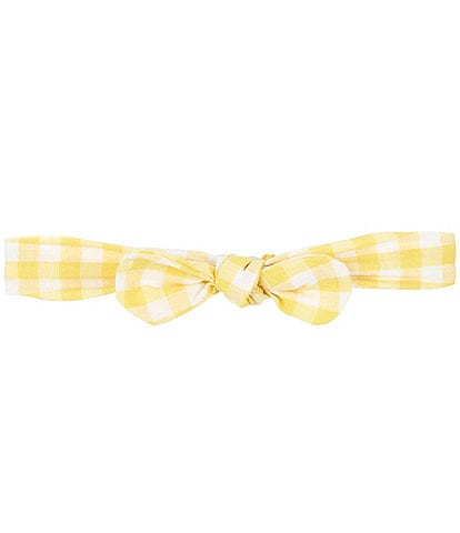 Starting Out Baby Girls Gingham Knotted Headband