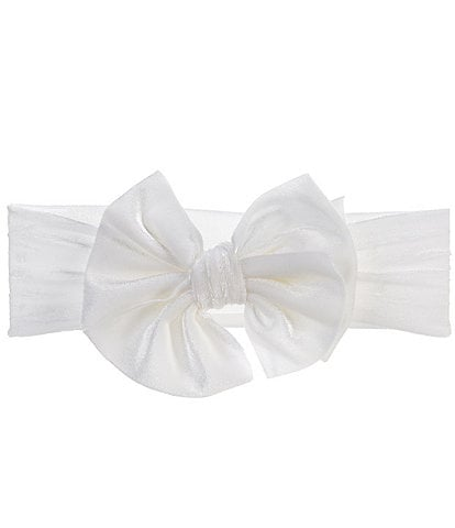Starting Out Baby Girls Large Velvet Bow Headband
