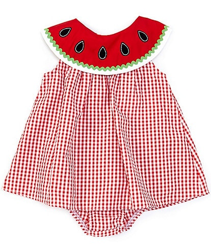 with Bottoms Girls Red Gingham A-Line Dress