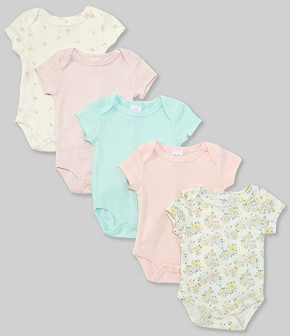 Starting Out Baby Girls Newborn-9 Months Floral 5-Pack Bodysuits