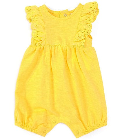 Starting Out Baby Girls Newborn-9 Months Solid Jersey Romper