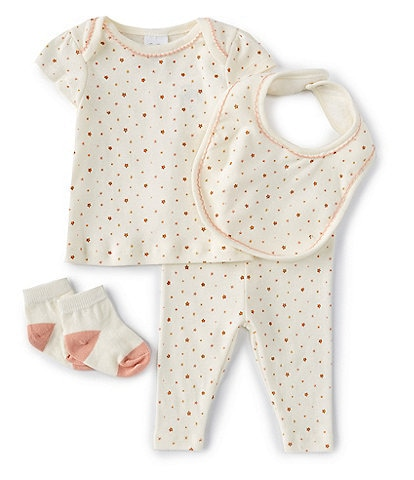 Starting Out Baby Girls Newborn-9 Months Stars 4-Piece Layette Set