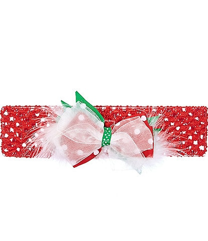 Starting Out Baby Girls Organza Polka-Dot Bow
