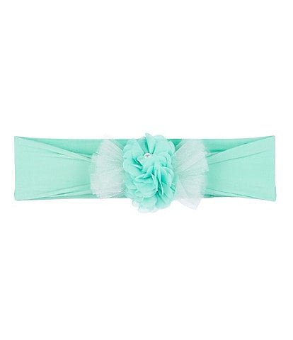 Starting Out Baby Girls Pearl Chiffon-Flower Headwrap