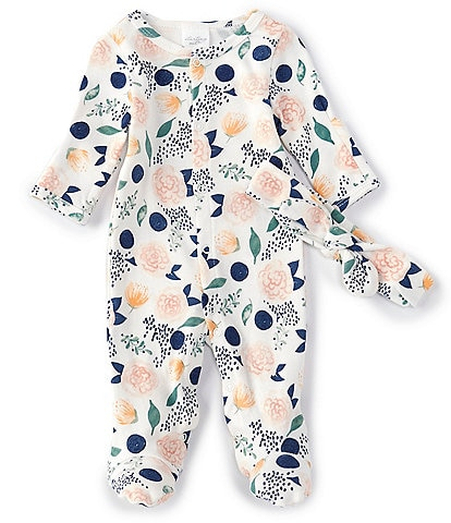 Starting Out Baby Girls Preemie-9 Months Floral Printed Footed Coverall