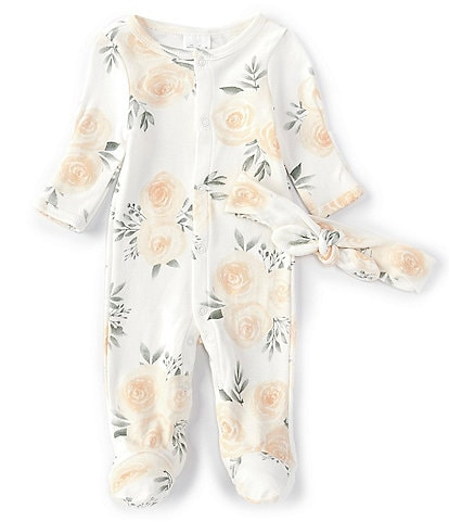 Starting Out Baby Girls Preemie-9 Months Rose Print Footed Coverall