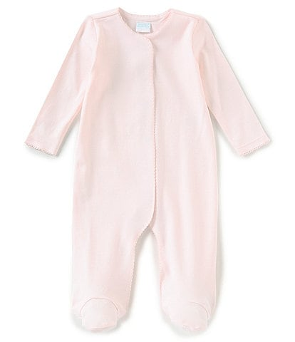 Edgehill Collection Supima Cotton Baby Girls Preemie-9 Months Supima Footed Coverall