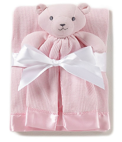 Starting Out Baby Girls Satin Trim Blanket & Buddy