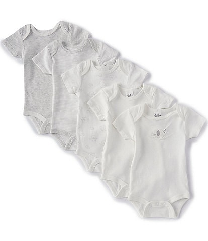 Starting Out Baby Newborn-6 Months Elephant 5-Pack Bodysuits