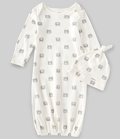 Starting Out Baby Newborn-6 Months Long-Sleeve Bear Gown