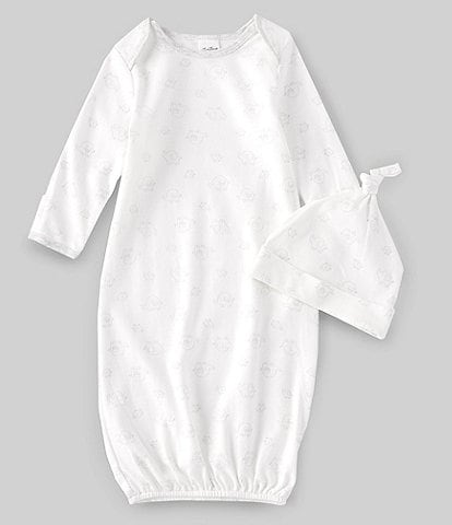 Starting Out Baby Newborn-6 Months Long-Sleeve Elephant Gown