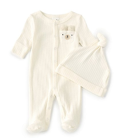 Starting Out Baby Preemie-6 Months Long-Sleeve Bear Pocket Footed Coverall