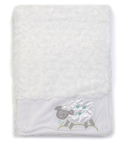 Starting Out Baby Satin Lamb Applique Blanket