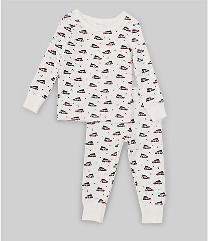 Starting Out Little Boy 2T-6 Christmas Car 2-Piece Pajamas Set