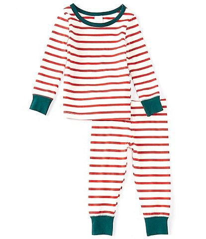 Starting Out Little Kids 2T-6 Candy Cane Stripe Print Long Sleeve Top & Pajama Pants Set