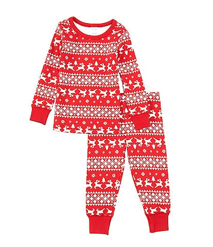 Starting Out Little Kids 2T-6 Christmas Fair Isle 2-Piece Pajamas Set