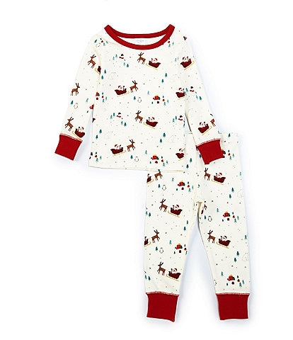 Starting Out Little Kids 2T-6 Santa Sleigh 2-Piece Pajamas Set