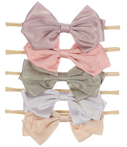 Starting Out Shimmer Headwrap Bow 5-Pack Set