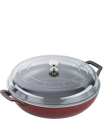Staub Cast Iron 3.5qt Braiser with Glass Lid