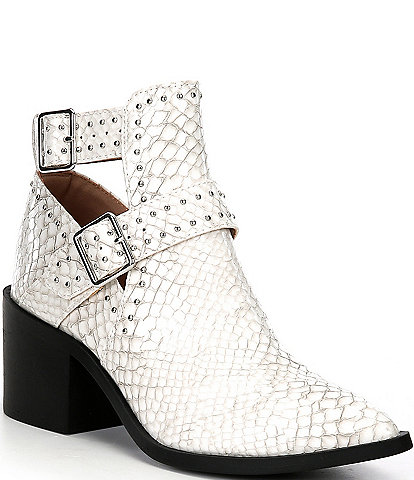 Steve Madden Andy Croc Embossed Studded Booties
