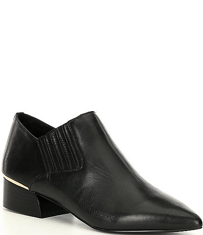 Steve Madden Arizona Leather Block Heel Booties