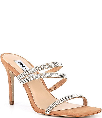 Steve Madden Awake Rhinestone Embellished Dress Sandals