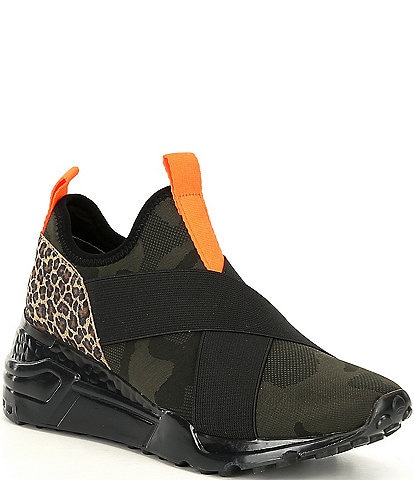 Steve Madden Cryme Camo Leopard Print Sneakers