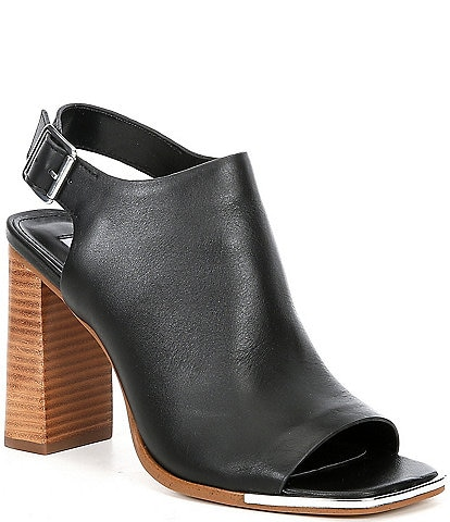 Steve Madden Deck Leather Square Toe Shooties