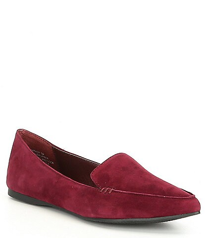 Steve Madden Feather Leather Loafers