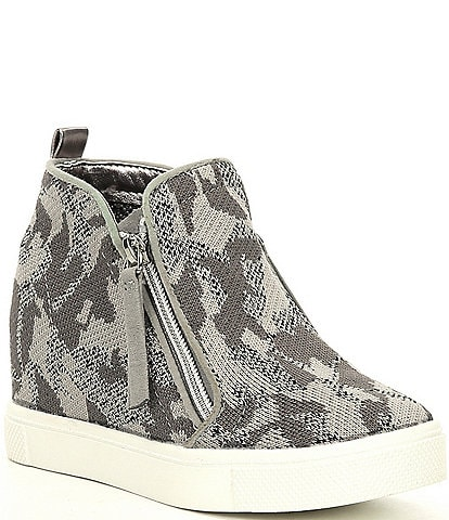 Steve Madden Girls' J-Caliber Camouflage Wedge Sneakers (Youth)