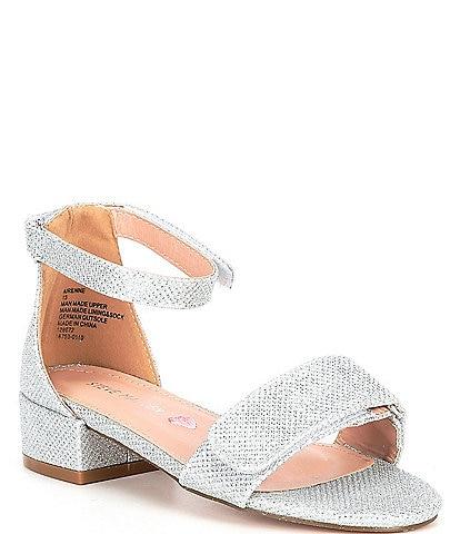 Steve Madden Girl's Adaptive A-Irenne Glitter Block Heel Sandals (Youth)