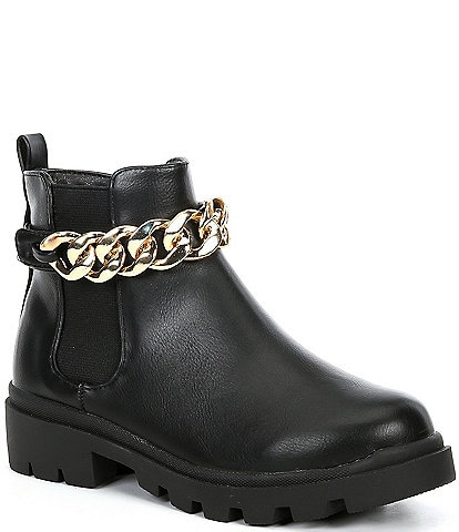Steve Madden Girl's J-Amulet-C Chain Detail Boots (Youth)