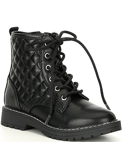 Steve Madden Girls' J-Bettyy Quilted Moto Boots (Youth)