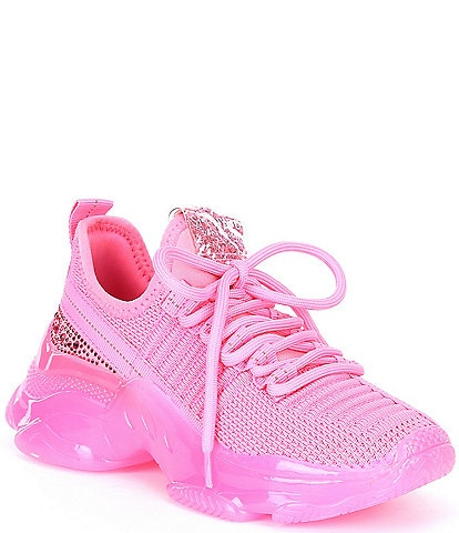 Steve Madden Girls J-Maxima Rhinestone Detail Sneakers (Youth)