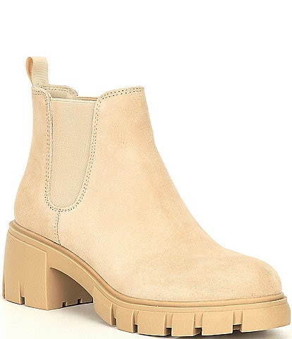Steve Madden Howler Suede Lugged Block Heel Booties