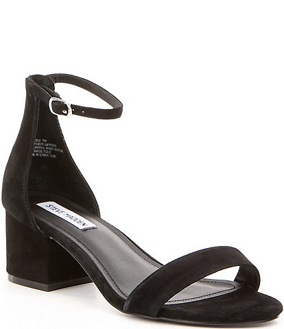 Steve Madden Irenee Ankle Strap Suede Block Heel Dress Sandals