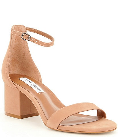 Steve Madden Irenee Nubuck Ankle Strap Block Heel Dress Sandals