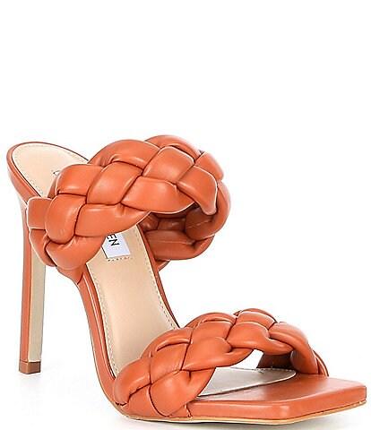 Steve Madden Kenley Braided Square Toe Stiletto Dress Mules