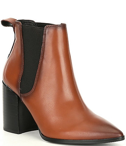 Steve Madden Knoxi Leather Block Heel Booties