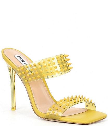 Steve Madden Lunna Clear Vinyl Studded Dress Sandals