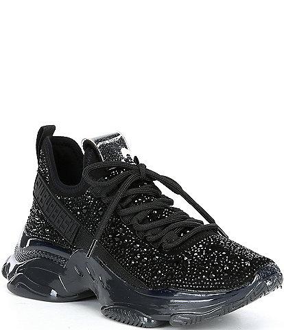Steve Madden Maxima-R Rhinestone Embellished Chunky Wedge Sneakers