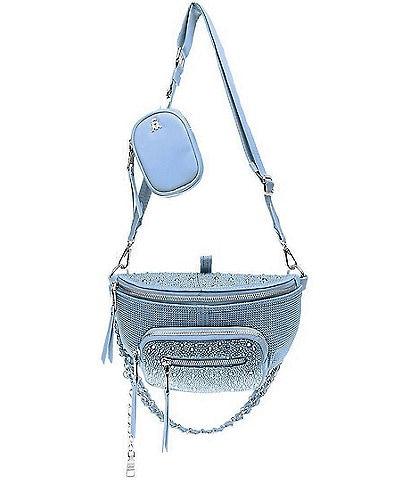 Steve Madden Maxima Rhinestone Convertible Belt Bag