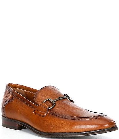 Steve Madden Men's Aahron Leather Bit Embellishment Dress Slip-Ons