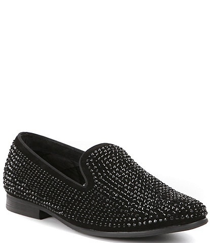 2810b2e4417 Steve Madden Men s Caviarr Crystal Embellishment Slip-On Loafers