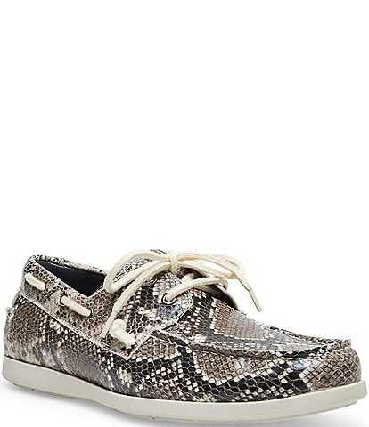 Steve Madden Men's Gametyme Snake Print Boat Shoes