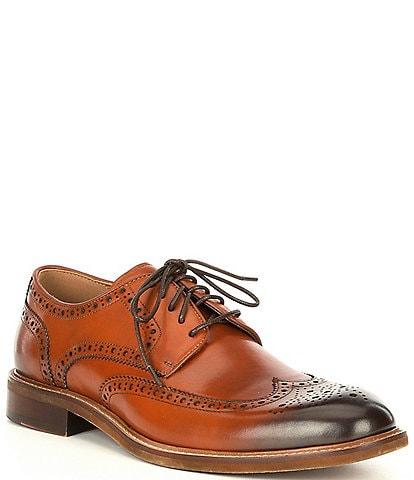 Steve Madden Men's Hoxton Wingtip Leather Oxfords