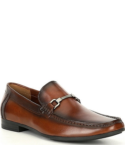 Steve Madden Men's Privacy Leather Bit Detail Loafers