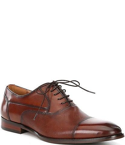 Steve Madden Men's Proctr Leather Cap Toe Oxfords