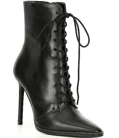 Steve Madden Ozzy Leather Stud Trim Booties