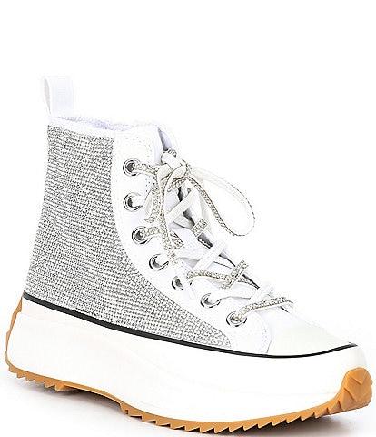 Steve Madden Shaft-R Rhinestone Embellished Platform Sneakers